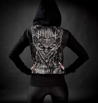 Ženski hoodie HYRAW - LUCIFER - SIVA, HYRAW
