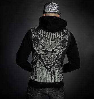 Moški hoodie HYRAW - LUCIFER - SIVA, HYRAW