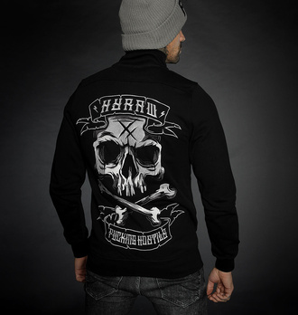Moški hoodie HYRAW - ADDICT - SIVA - FW21-M44-ZIP