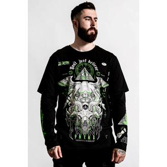 Unisex majica (z dolgimi rokavi) KILLSTAR - Illuminated 2-Layer - Črna, KILLSTAR