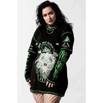 Ženska obleka KILLSTAR - Illuminated 3-Layer - Črna, KILLSTAR