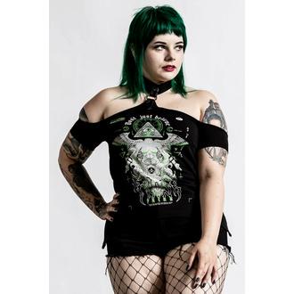 Ženska majica (top) KILLSTAR - Illuminated Choker - Črna, KILLSTAR