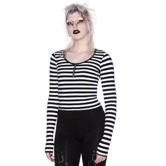 Ženska majica z dolgimi rokavi KILLSTAR - Izora Ribbed - WHITE - KSRA002712