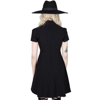 Ženska obleka KILLSTAR - Jovana Collar & Ring - Črna, KILLSTAR