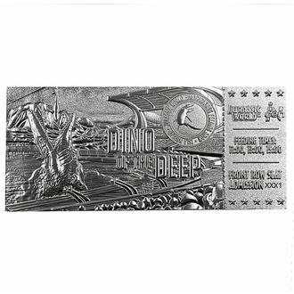 Dekoracija Jurassic World - Replica Mosasaurus Ticket - srebrna prevleka, NNM, Jurassic World