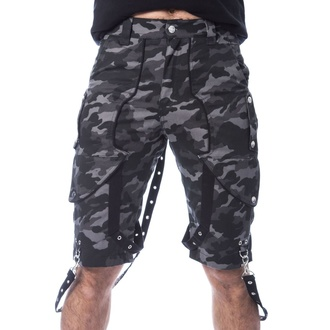 Moške kratke hlače POIZEN INDUSTRIES - JUSTUS - SIVA CAMO, POIZEN INDUSTRIES