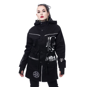 ženska jakna (parka) HEARTLESS - KITTY CULT PARKA - ČRNA, HEARTLESS