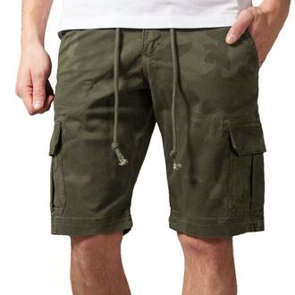 Moške kratke hlače URBAN CLASSICS - Camo Cargo - olivno camo, URBAN CLASSICS