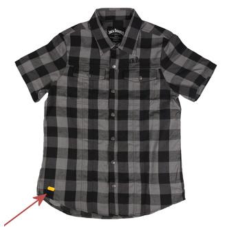 Moški majica Jack Daniels - Checks - Črna / siva - POŠKODBA, JACK DANIELS