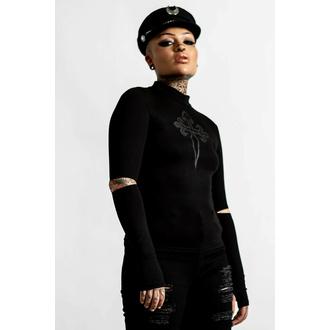 Ženska majica z dolgimi rokavi KILLSTAR - Laverna Cross - Črna, KILLSTAR