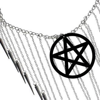 Ogrlica Luciferothica - Pentagram Black, LUCIFEROTHICA