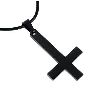 Ogrlica Luciferothica - Black Inverted Cross, LUCIFEROTHICA