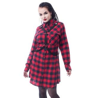 Ženska obleka VIXXSIN - MASTER - RDEČI KARO, VIXXSIN