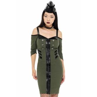 Ženska obleka KILLSTAR - Miss Stardust - KHAKI, KILLSTAR