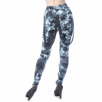 Ženske hlače (legice) CHEMICAL BLACK - MORWENNA - ČRNA/BELA TIE DYE, CHEMICAL BLACK