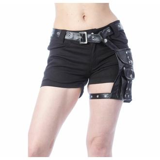 Ženske kratke hlače POIZEN INDUSTRIES - MUSETTE - ČRNA, POIZEN INDUSTRIES