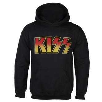 jopa s kapuco moški Kiss - Distressed Logotype - HYBRIS, HYBRIS, Kiss