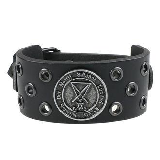 Zapestnica Luciferi - črn obroč, Leather & Steel Fashion