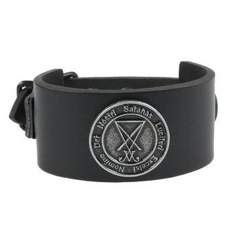 Zapestnica Luciferi - Črna, Leather & Steel Fashion