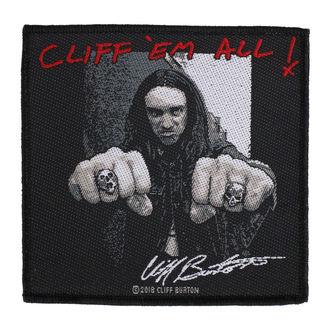 Našitek Metallica - Cliff  Ern Alll - RAZAMATAZ, RAZAMATAZ, Metallica