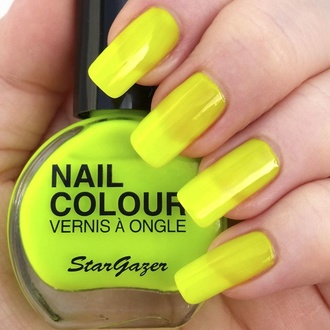 Lak za nohte STAR GAZER - Neon Yellow, STAR GAZER