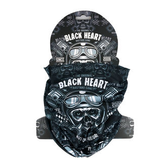Ruta BLACK HEART - PISTON SKULL - ČRNA, BLACK HEART
