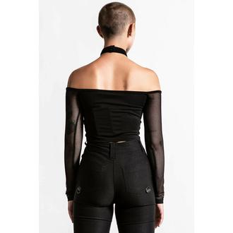 Ženska majica z dolgimi rokavi KILLSTAR - Nightcall Fishnet - Črna, KILLSTAR