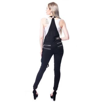Ženske hlače Vixxsin - NOCTURNAL DUNGAREES - ČRNA, VIXXSIN