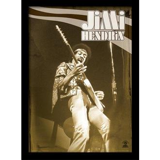 Uokvirjen plakat Jimi Hendrix - Live - PYRAMID POSTERS, PYRAMID POSTERS, Jimi Hendrix