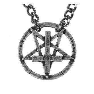 Ogrlica Pentagram, Leather & Steel Fashion