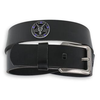 Pas Bafomet - Black krystal - modra, Leather & Steel Fashion