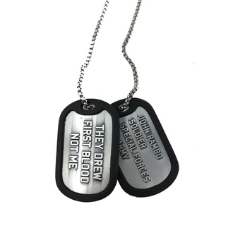 Vojaška ploščica (dog tags + ogrlica) Rambo - Logo, NNM, Rambo