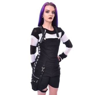 Ženske kratke hlače Heartless - PENTACRAFT DUNGAREES - BLACK, HEARTLESS
