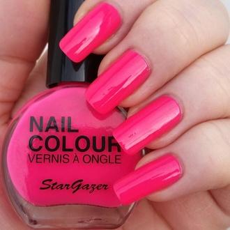 Lak za nohte STAR GAZER - Neon Pink, STAR GAZER