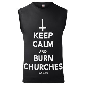 Moški Top AMENOMEN - KEEP CALM AND BURN CHURCHES, AMENOMEN