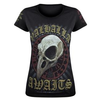 ženska majica VICTORY OR VALHALLA - CROW SKULL, VICTORY OR VALHALLA
