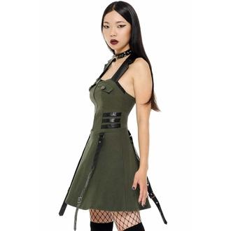 Ženska obleka KILLSTAR - Psy-Ops - KHAKI, KILLSTAR