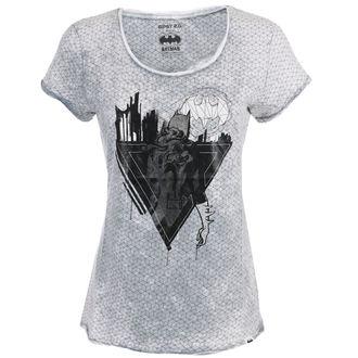 Filmska ženska majica Batman - SVETLO SIVA -