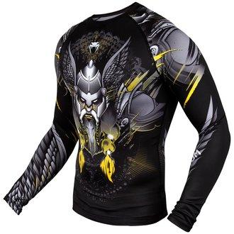 Moška termo majica z dolgimi rokavi Venum - Viking 2.0 Rashguard - Črno / Rumena, VENUM