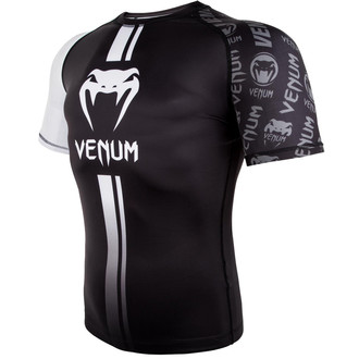 Moška termo majica (rashguard) Venum - Logos Rashguard - Črno / Bela, VENUM