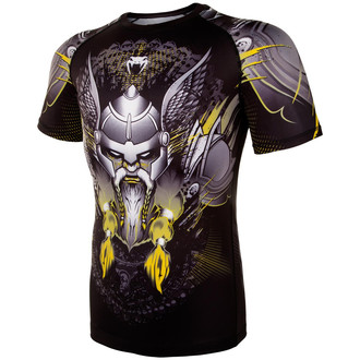 Moška termo majica Venum - Viking 2.0 Rashguard - Črno / Rumena, VENUM