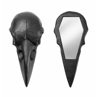 Dekoracija (ogledalo) ALCHEMY GOTHIC - Raven Skull - Črna, ALCHEMY GOTHIC