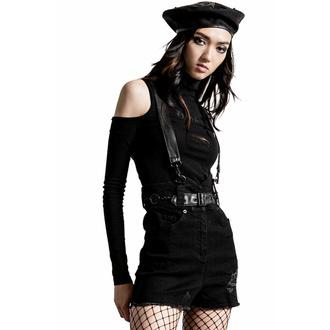 Ženske kratke hlače KILLSTAR - Rebel Heart Suspender - Črna, KILLSTAR