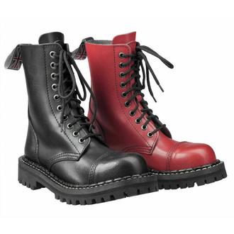 škornji STEADY´S - 10 očesci - Črna rdeča - STE/10_black/red