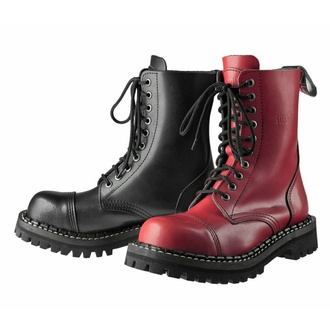 škornji STEADY´S - 10 očesci - Črna rdeča, STEADY´S