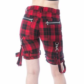 Ženske kratke hlače CHEMICAL BLACK - RENITA - RED TARTAN, CHEMICAL BLACK