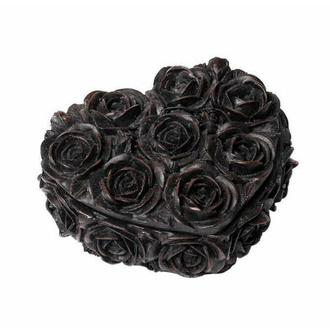 Dekoracija (škatlica) ALCHEMY GOTHIC - Rose Heart - Črna, ALCHEMY GOTHIC
