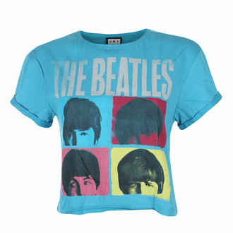ženske majica top THE BEATLES - HARD DAY'S NIGHT - TEAL PANTHER - AMPLIFIED, AMPLIFIED, Beatles