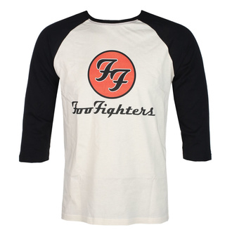 Moška majica s 3/4 rokavi FOO FIGHTERS - RED CIRCULAR LOGO - ECRU / ČRNA - GOT TO HAVE IT, GOT TO HAVE IT, Foo Fighters