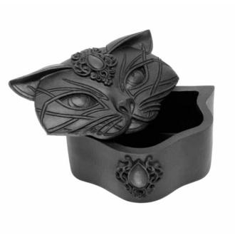 Dekoracija (škatlica) ALCHEMY GOTHIC - Sacred Cat - Črna, ALCHEMY GOTHIC